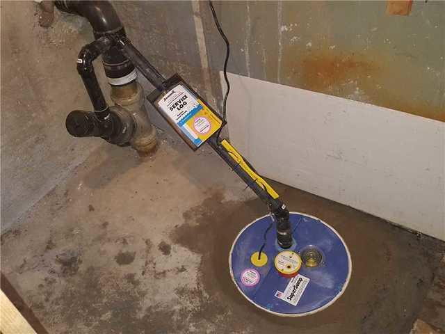 A SuperSump sump pump system in Beloeil, Quebec.