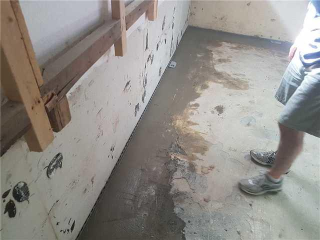 Waterproofing a basement in Ormstown