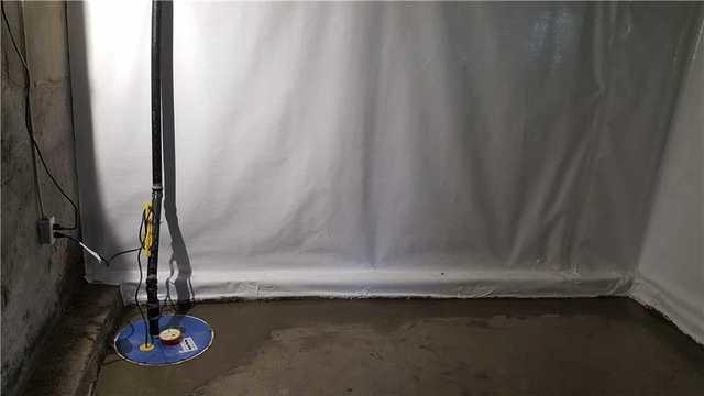A basement waterproofed in Deux-Montagnes