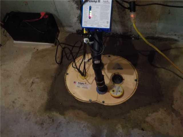A sump pump system in Vimont, Laval