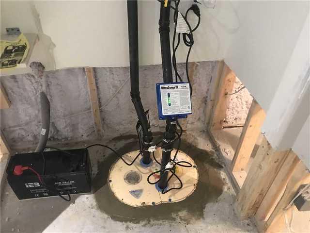 Installation d'un système d'imperméabilisation d'eau dans un sous-sol de Gatineau - After Photo