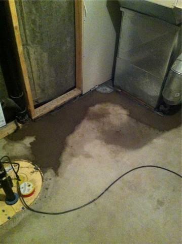 Waterproofing a basement in Ile Bizard, Qc