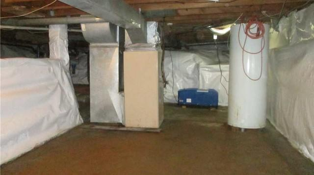 Encapsulation of a crawl space in Brownsburg-Chatham