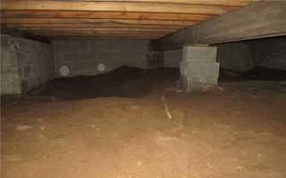 Encapsulating a crawl space in Mascouche, Qc