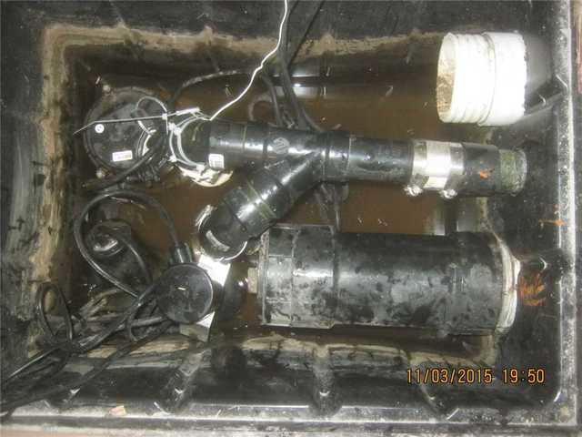 Ajout d'une pompe à batterie UltraSump à Carignan, Qc - Before Photo