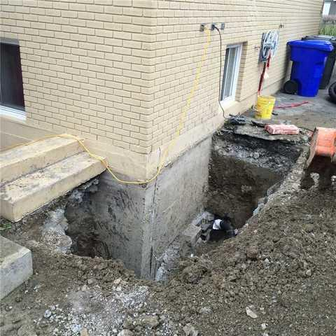 Stabilizing a foundation in Varennes
