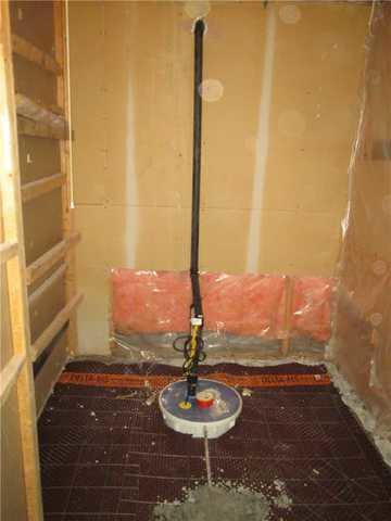 Sump pump installation in Varennes, Qc