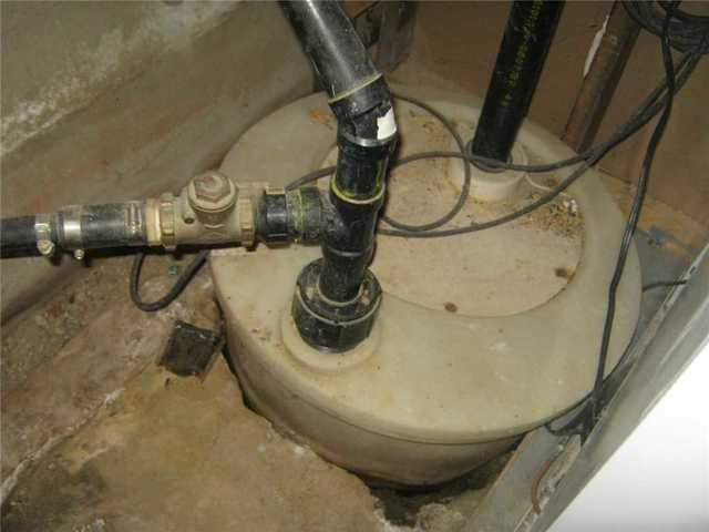 Systèmes de pompes de puisard hermétique - Before Photo