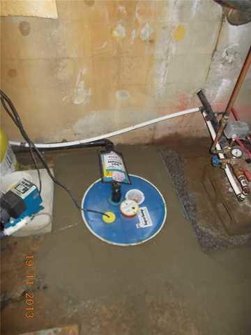 Systèmes de pompes de puisard hermétique - After Photo