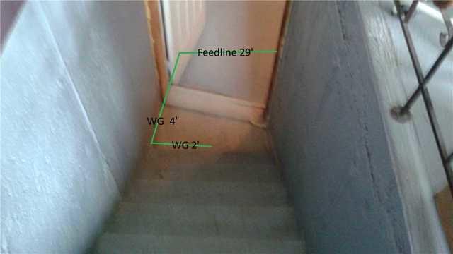 Une cage d'escalier imperméabilisée à Mercier, QC