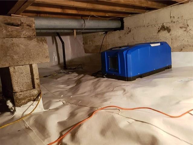 Un vide sanitaire maintenant sec à Saint-Armand, Qc
