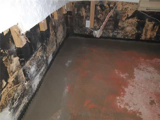Installation of an interior drain in Bon-Conseil, Qc.