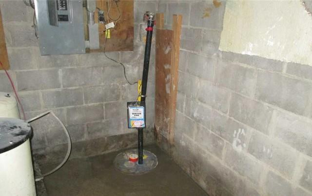 Replacing an old sump pump with the SuperSump pump, Qc