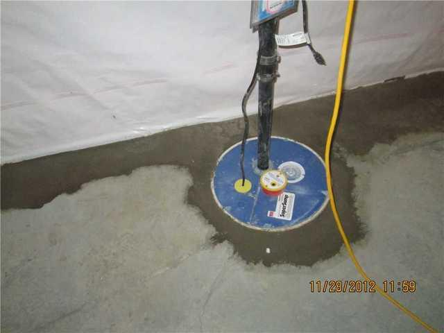 Turning a wet basement into a waterproofed area in Chateauguay, Qc