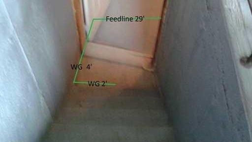 A waterproofed stairwell in Mercier, QC