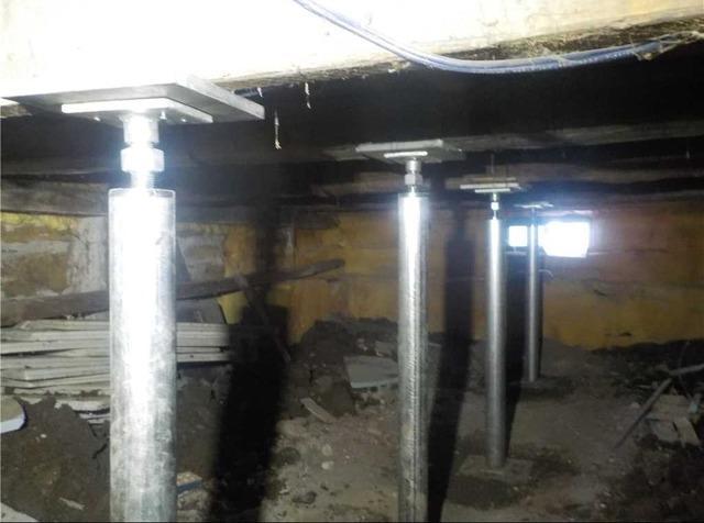Cracks in a foundation in Mercier, Qc