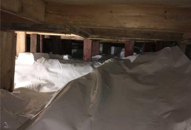 Une transformation d'un grand vide sanitaire à Harrington, Qc.