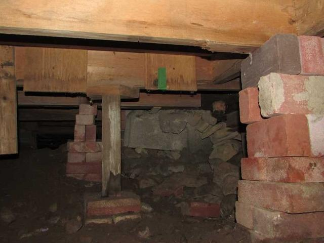 Stabilisation des solives d'un vide sanitaire à Deux-montagnes, Qc