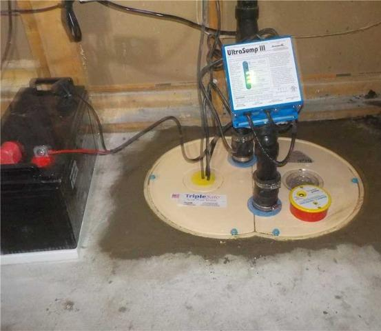 Pompe de secours à batterie pour les intempéries à Sainte-Anne-de-Bellevue, Qc - After Photo