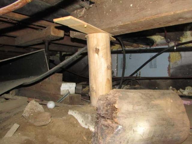Stabilization a foundation in Saint-Michel-Des-Saints , Qc