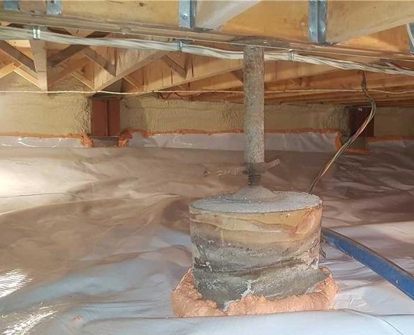 Humidité dans le vide sanitaire à Dunham, Qc