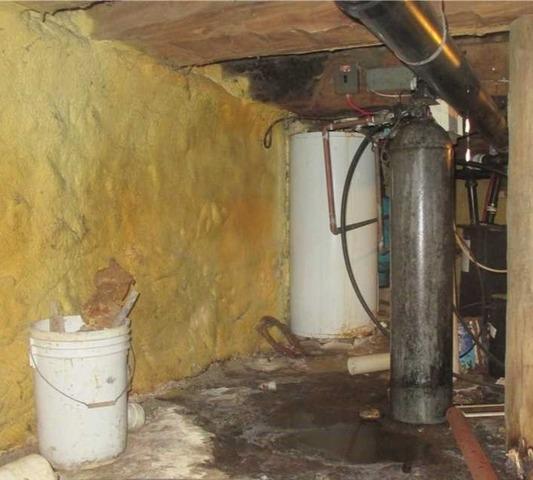 Infiltration d'eau importante d'un vide sanitaire à Howick, Qc
