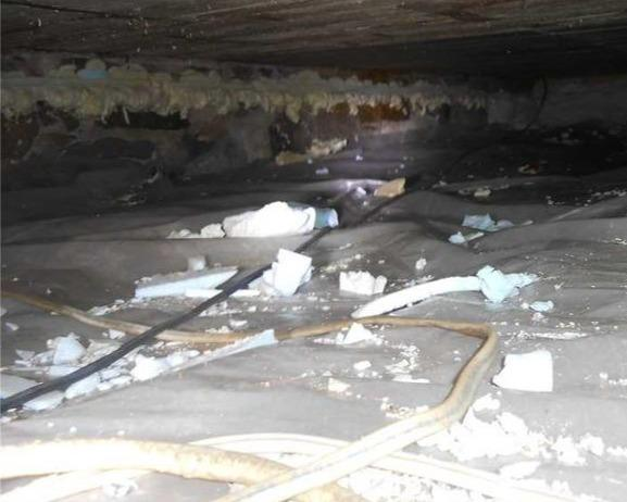 Loss of heating in a crawl space in Marieville, Qc