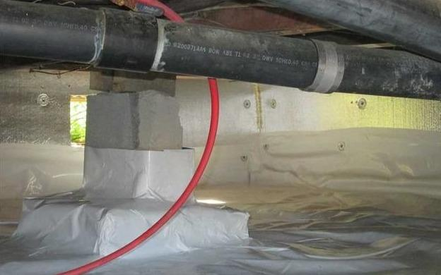 Complete insulation of a crawl space in Saint-Chrysostome, Qc