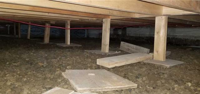 Isolation et déshumidification d'un vide sanitaire à Hudson, Qc