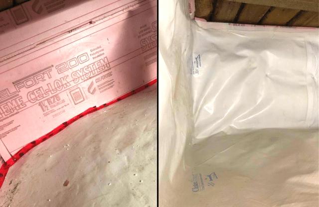Isolation d'un vide sanitaire froid et humide à Chomedey, Qc