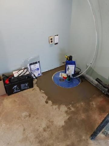 Changing of a sump pump in Saint-Amable, Qc