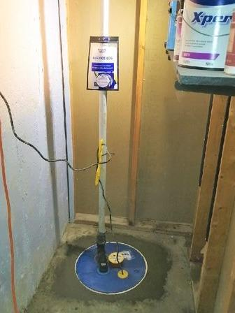 Sump pump change in Beaconsfield, Qc