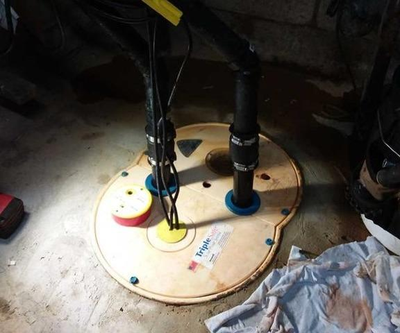 Changing of a sump pump in Boisbriand , Qc