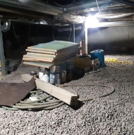 Encapsulation of a crawl space in Berthierville , Qc