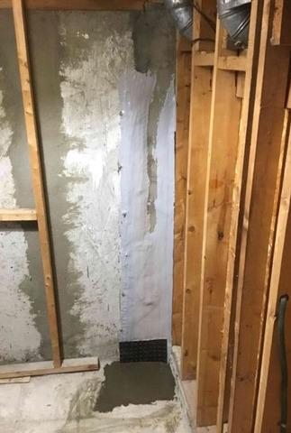 FexiSpan injection in  a basement in Pointe-claire, Qc