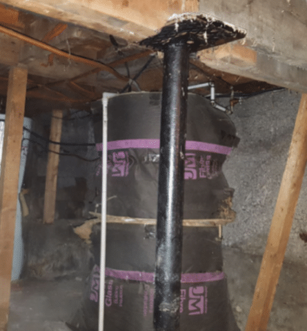 Stabilizing a crawl space in Montreal, Qc