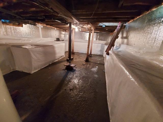 Encapsulation d'un vide sanitaire avec CleanSpace à Beauharnois. Qc