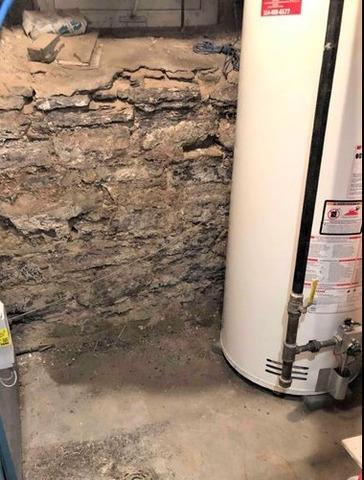 Waterproofing in a basement in Montreal, Qc