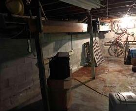 Waterproofing and insulation of a basement in Lantier, Qc