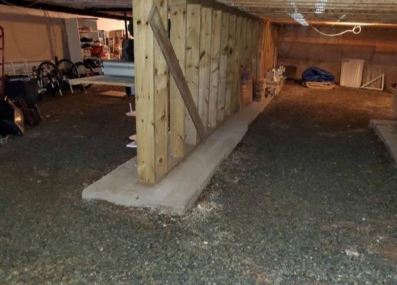 A whole waterproofing job in this basement in Magog,Qc