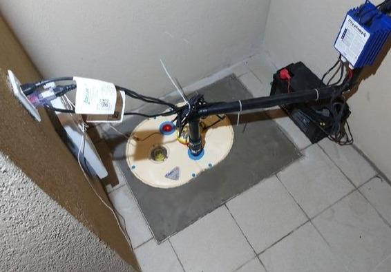 Installation of a TripleSafe sump pump system in Brossard, Qc
