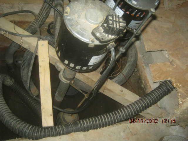 Pompe de puisard - Before Photo