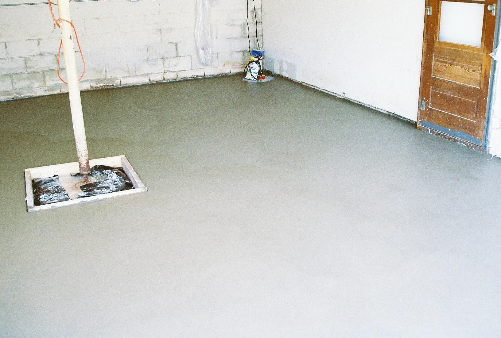 Restoring the floor of a leaky garage - After Photo