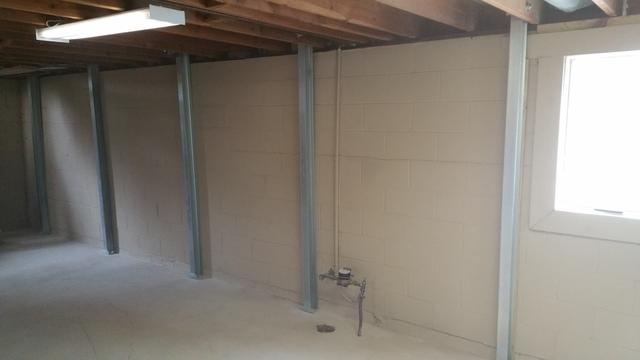 Bowing Walls Corrected with PowerBraces in Des Moines, IA  - After Photo