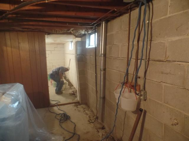 Des Moines Wall Replacement, Bowing Wall Repair, & Waterproofing - Before Photo