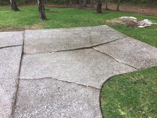Sinking Driveway in Saint Simons Island, GA Fixed by Polylevel