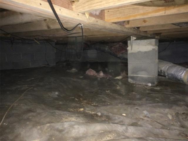 SmartJacks Fix Sagging Floors in Mt. Pleasant, SC - Before Photo
