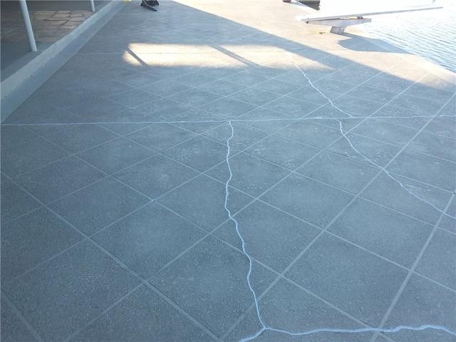 Patio Cracks Filled with NexusPro in Portal, GA