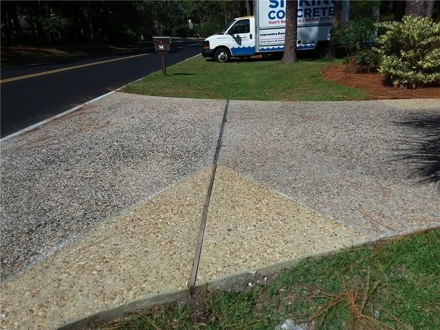 Sinking Driveway Fixed with PolyLevel in Hilton Head, SC