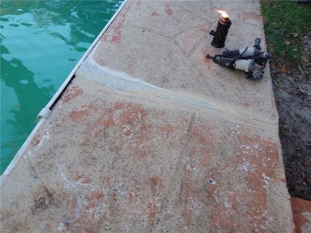Sinking Concrete and Cracks in Pool Deck in Richmond Hill, GA